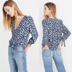Madewell Tie-Sleeve Button-down Top